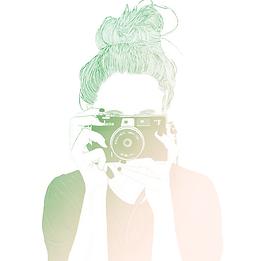 Shlaom Photography Girl holding up camera illustration
