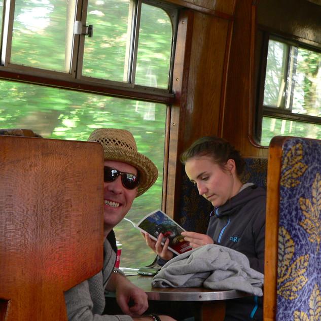 Phil & Rosie on the steam train