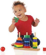 black toddler playing
