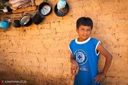 Boy Wall Blue Shirt & Pot