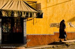 Orange Wall and Woman