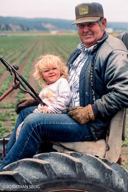 Farmer, Granddaughter & Tractor 06