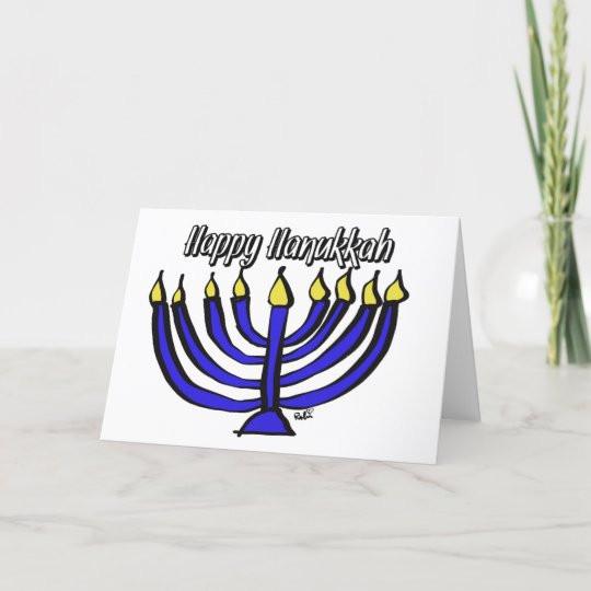 Blessed Menorah Card