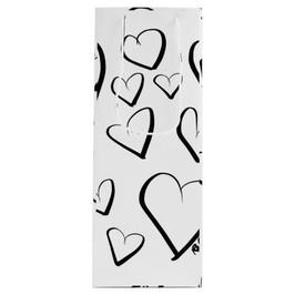 Doodle Hearts Wine Gift Bag