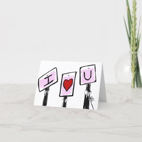 I Love U Signs Card