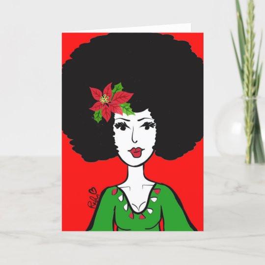 Afro Christmas Card