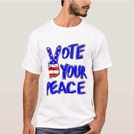 Vote Your Peace Male TShirt