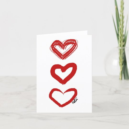 Heart Trio Card