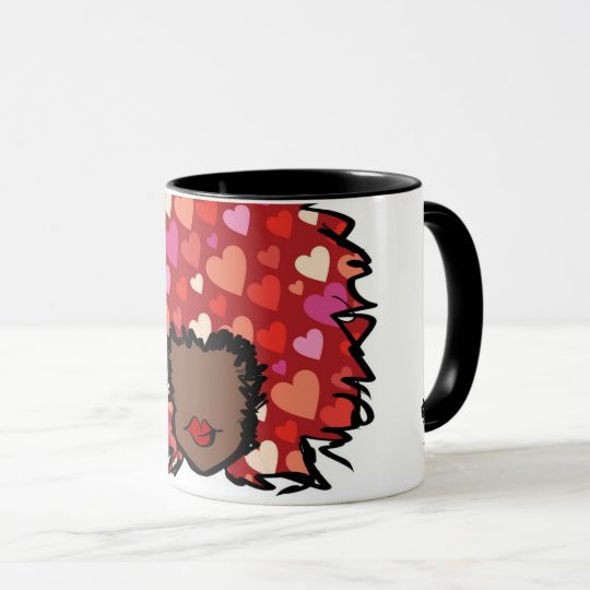 Afro Heart Coffee Mug