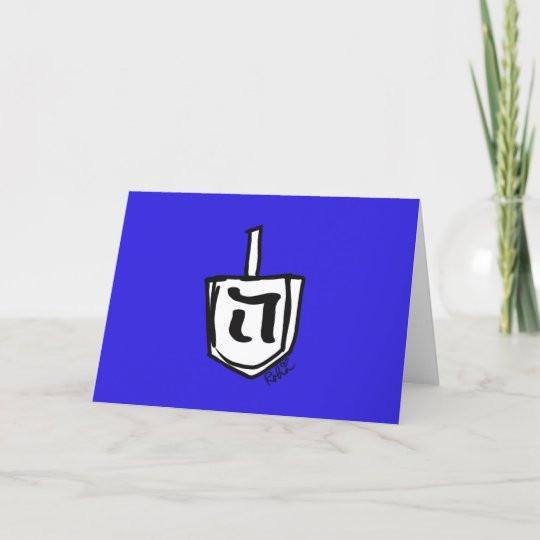 Dreidel Card