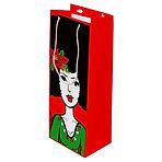 Afro Christmas Wine Gift Bag