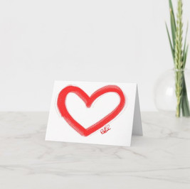 Red Heart Paint Card