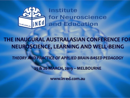 The Inaugural Australasian Conference for Neuroscience, Learning and Well-being