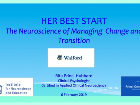 Her Best Start The Neuroscience of Managing Change and Transition