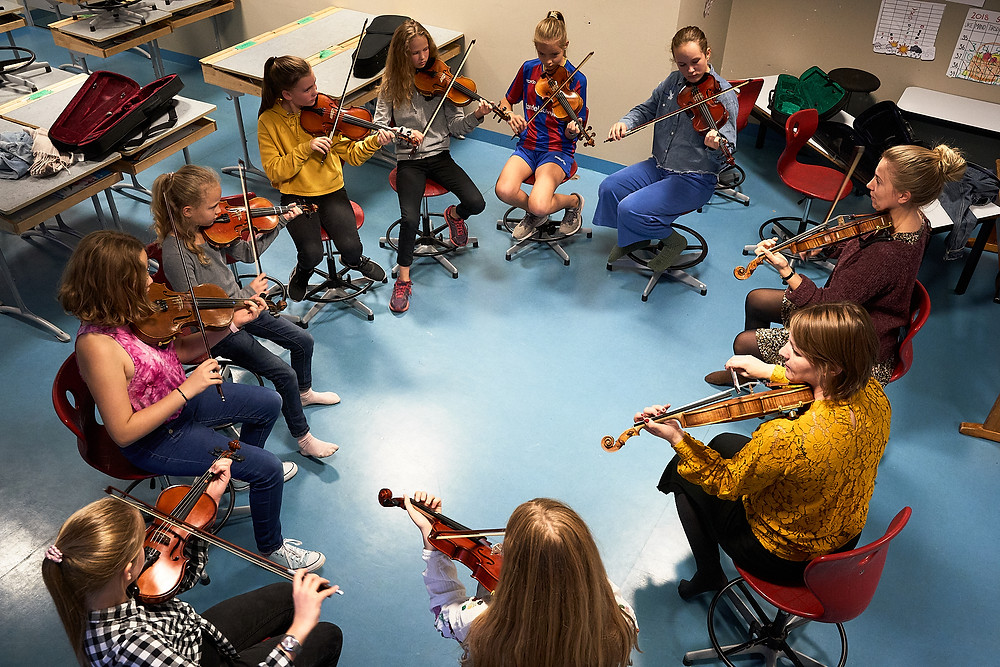 Unge folkemusikere i Oslo, foto: Thor Hauknes