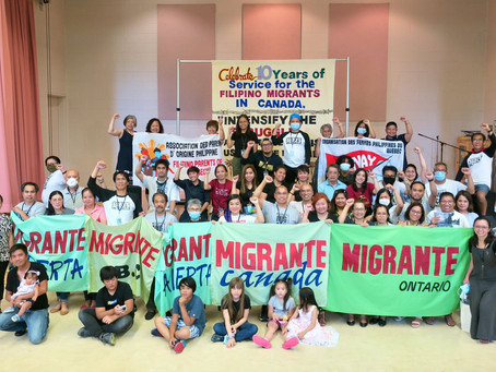 Celebrating 10 Years of Service and Struggle for Filipino Migrants