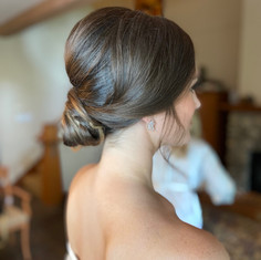 Beautiful low bun