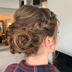 Beatiful up-do with braid by Lidia