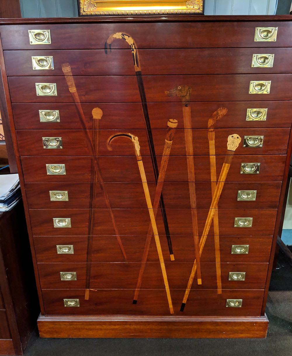 cane cabinet