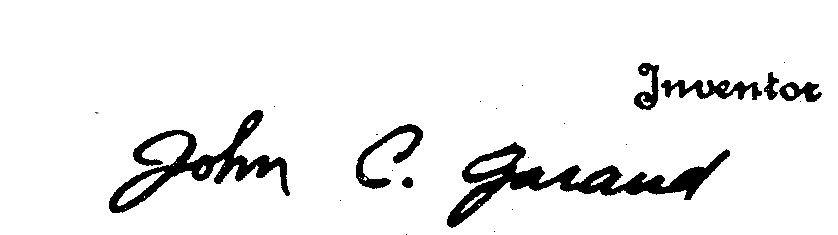 Garand, patent, signature