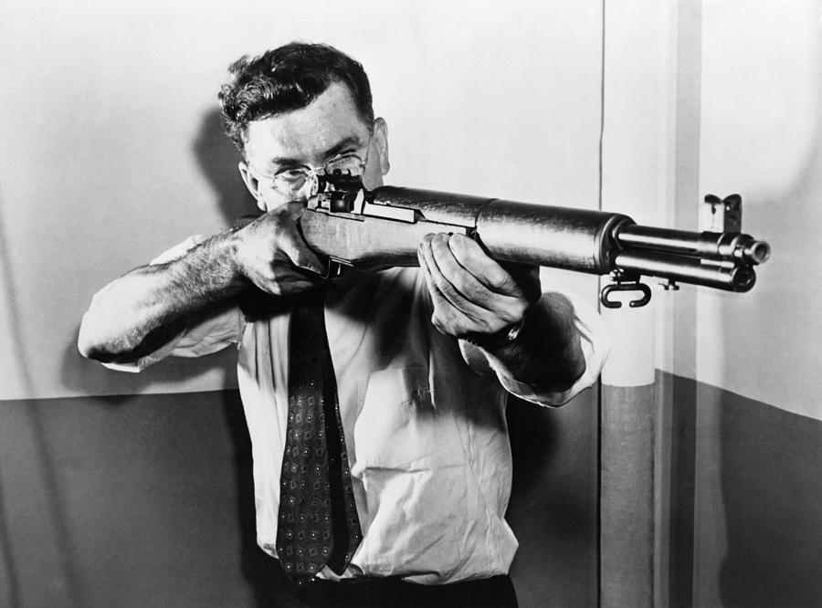 john garand, garand, rifle, m1, wwii, ww2