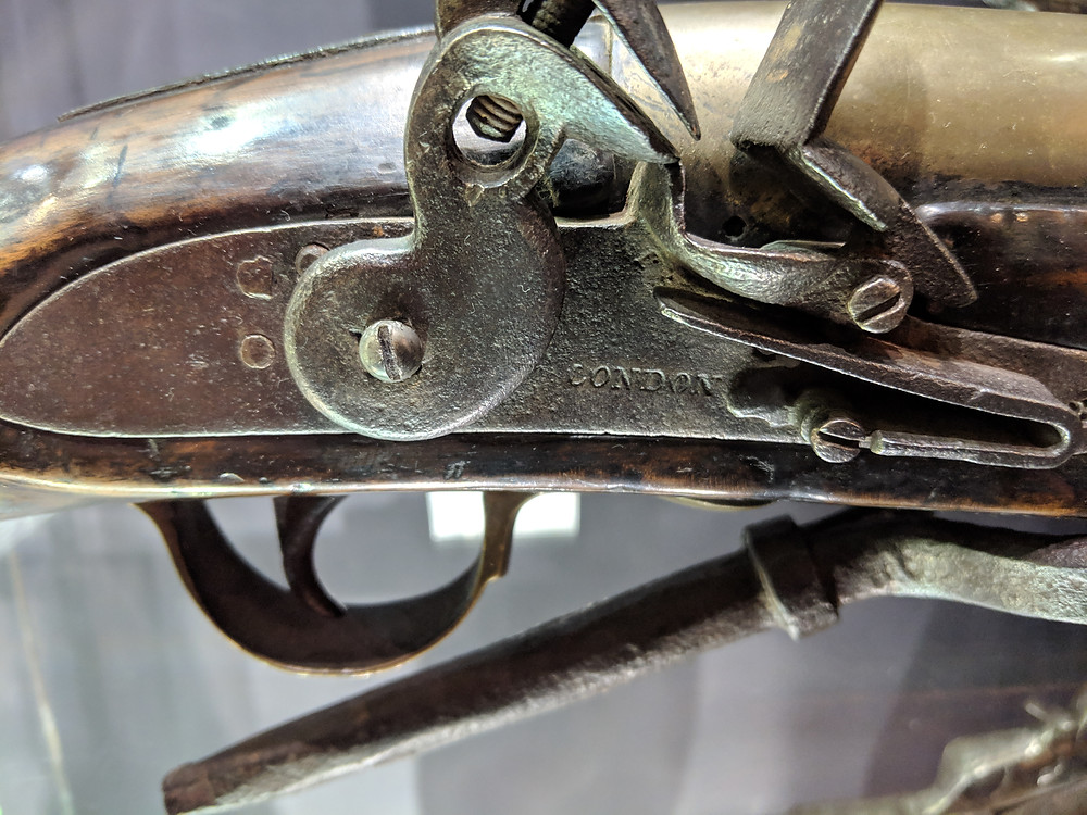 London-marked blunderbuss lockplate