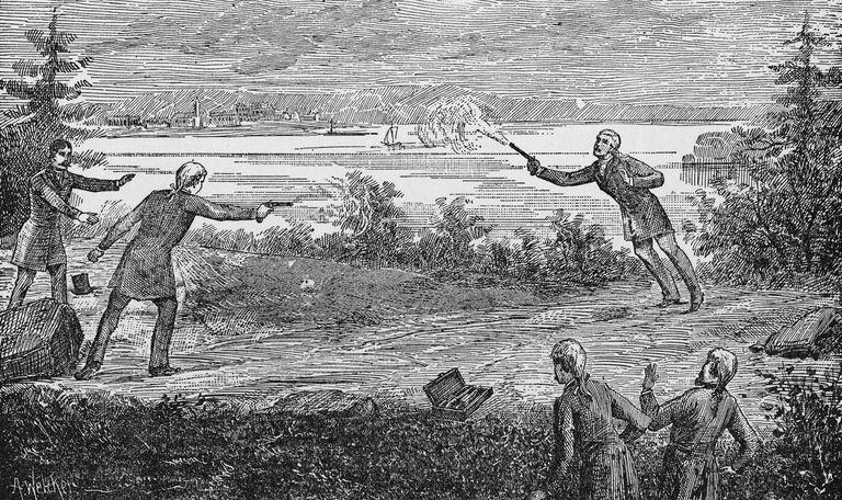 Alexander Hamilton, Aaron Burr, duel, pistols