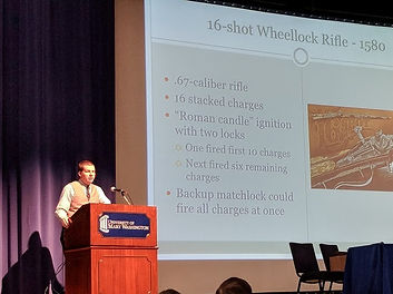Logan Metesh, UMW, firearms history, lecture