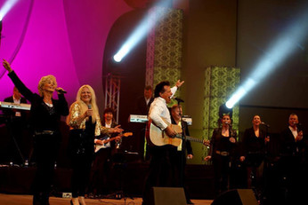 GOLDEN VOICES on stage at Morelata Park, Pretoria, SA