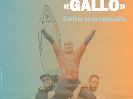 «Gallo», bicampeón del mundo de surf adaptado, en el arranque de Equiocio 2020