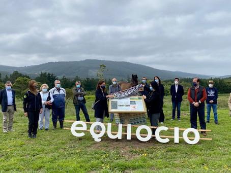 Equiocio inaugura una ruta para potenciar el uso deportivo sostenible del monte de As Cabazas