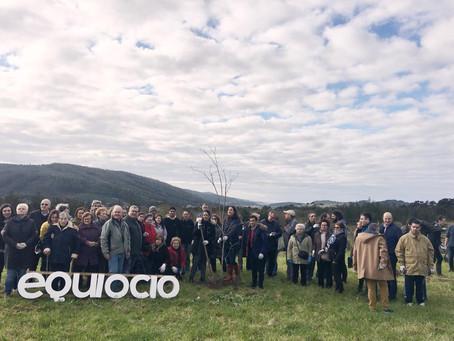 Equiocio impulsa la puesta en valor del campo de As Cabazas con la plantación de un jardín botánico
