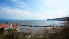 The view from our cliff top garden.