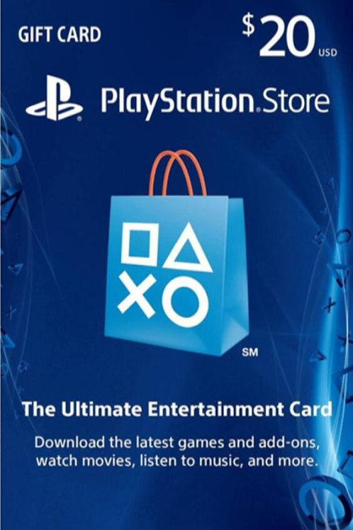 copy of copy of PlayStation Network Gift Card 20 USD United States