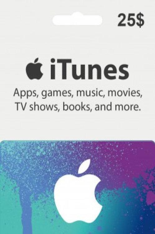 copy of Apple Itunes Gift Card 25USD KEY AMERICA