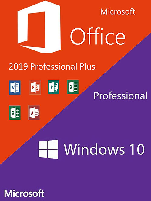 Windows10 PRO retail + Office2019 Professional Plus CD Keys Pack