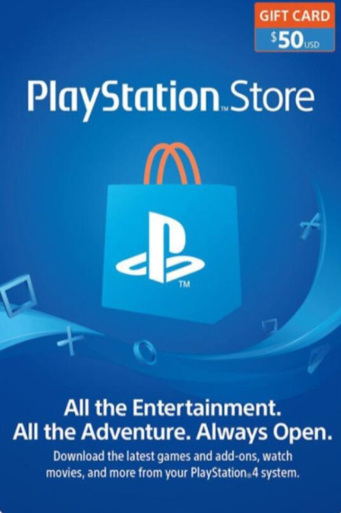 copy of copy of copy of PlayStation Network Gift Card 50 USD United States