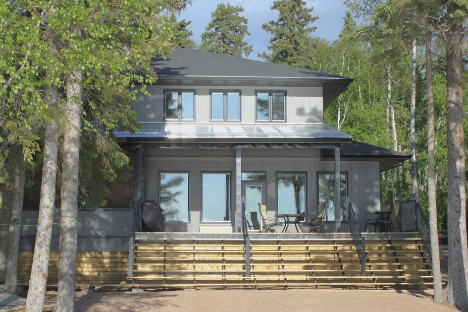 Custom lakefront house