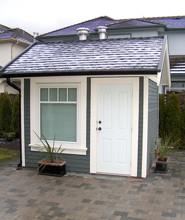 New pool shed
