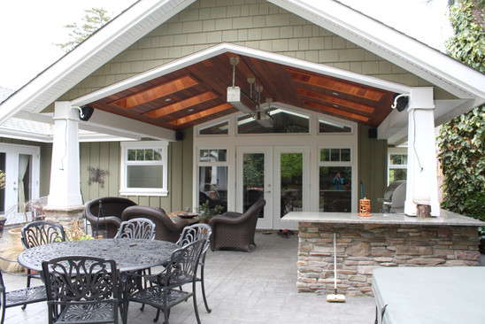 New covered patio