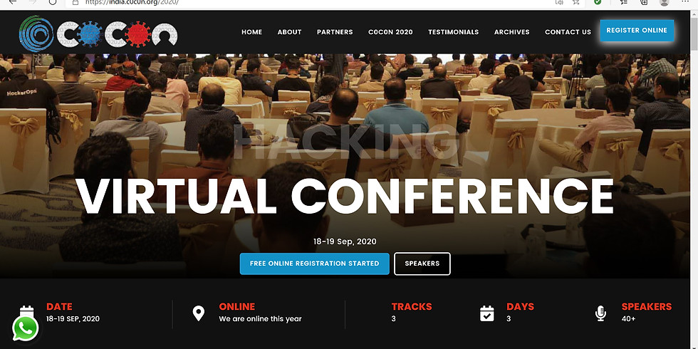 c0c0n Virtual conference - Hacking and Cybersecurity