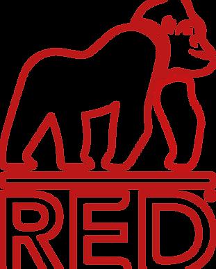 Red Gorilla Outline Logo Red - CMYK - Re