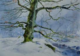 Snow at Padley Gorge - SOLD