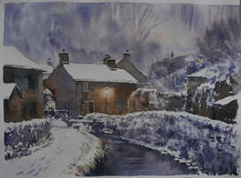 Castleton in the snow - SOLD