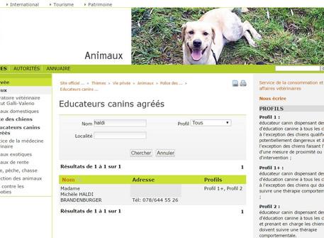 Comment trouver un éducateur canin sur le canton de Vaud?