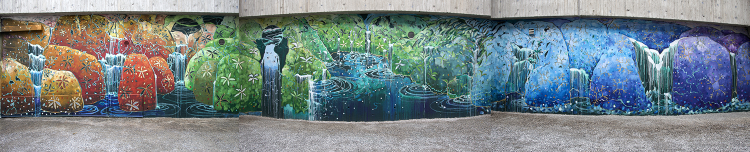 Arctic Waters mural, panorama