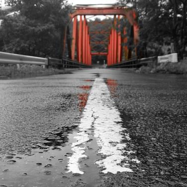 Road and Bridge Near Mount Zao in Yamagata, Japan