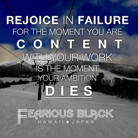 'Rejoice In Failure' Motivational Print by Fearious Black