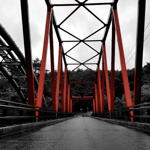 Orange Bridge Near Mount Zao in Yamagata, Japan