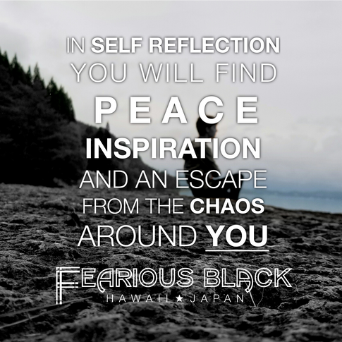'Self Reflection' Motivational Print by Fearious Black